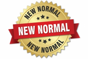Image of a logo with the writing new normal