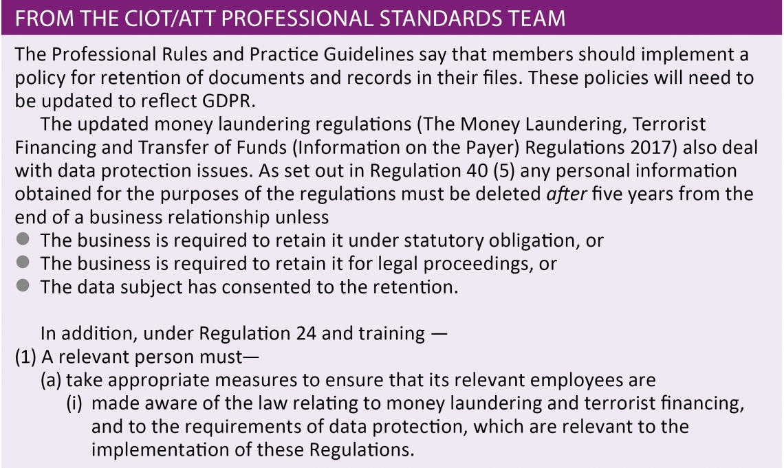 From the CIOT/AA Professional Standards Team