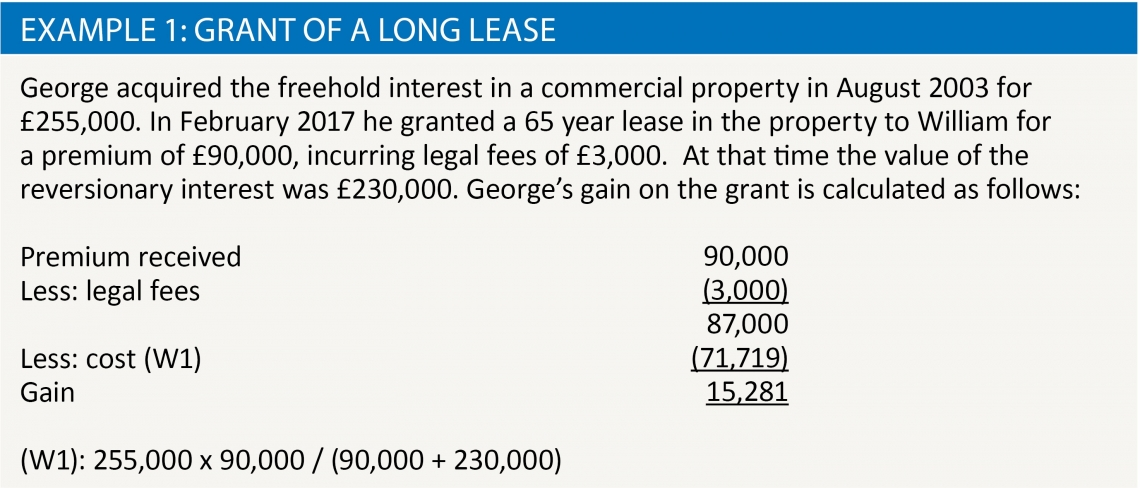 Example 1: Grant of a long lease