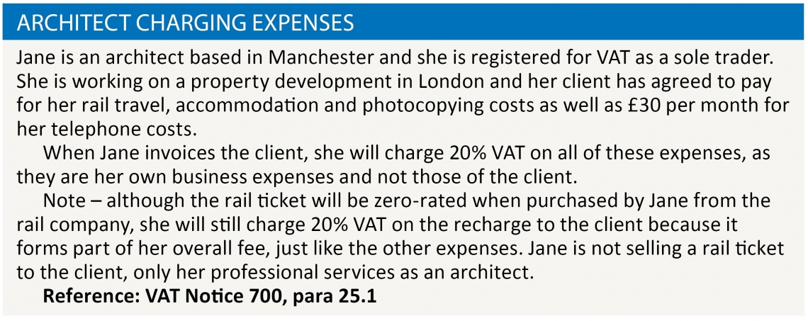 Warren - Architect charging expenses