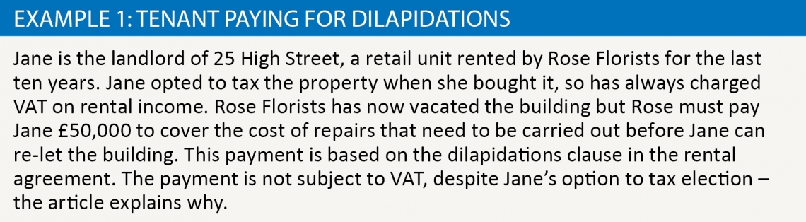 tenant paying for dilapidations