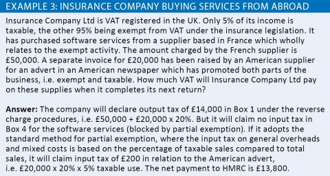 Insurance company buying services from abroad